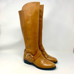 Sigerson Morrison Kali Cognac Leather Riding Boots